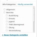 WP-Hilfe: Beitrag, Kategorien