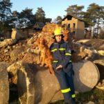 Rettungshund Baddy mit Katrin Wittmar